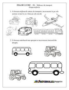 FISE de lucru cu Mijloace de Transport - Grupa mijlocie - DS - Cunoasterea…