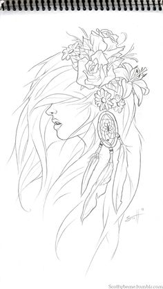 Tattoo idea // sub in lotus flowers, add text, more engraved style