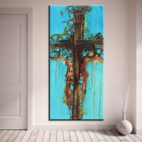 longer Cross Art  Painting wall pictures Abstract Art wall painting for home decor ideas print on canvas oil painting No Framed