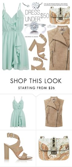 """""""Dress Under $50"""" by totwoo ❤ liked on Polyvore featuring New Look, Mint Velvet, Gianvito Rossi and Valentino"""