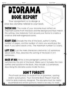 Shoe Box Diorama Book Report: Diorama for a Fiction or Non-Fiction Book! Shoe Box Diorama Book Report: Diorama for a Fiction or Non Book Report Projects, Reading Projects, Book Projects, History Projects, Book Study, Writing A Book, Writing Ideas, Book Art, Book Club Menu
