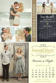 Save The Date Magnets ♥ #weddings #birthdays #sweet16