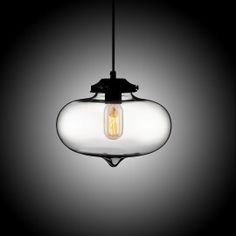 Single Edison Bulb Hand-Blown Glass Mini Lantern Fixture