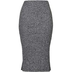 TOPSHOP PETITE Salt and Pepper Tube Skirt ($32) ❤ liked on Polyvore featuring skirts, charcoal, petite, slit skirt, topshop, topshop skirts, tube skirt and petite skirts