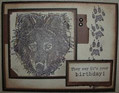 Wolf Masculine Birthday by bullisaci - Cards and Paper Crafts at Splitcoaststampers