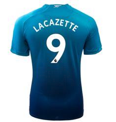 Adult #9 LACAZETTE Arsenal Away Blue Soccer Jersey 2017/18 Arsenal Jersey, Soccer, Sweatshirts, Sports, Sweaters, Blue, Shopping, Tops, Futbol