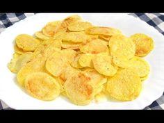 Patatas chips al microondas | Cocina