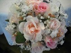 Pimk & White Bridesmaid Bouquet