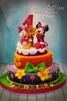 Minnie and Daisy Cake