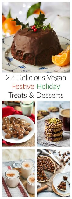 With Bonfire Night, Thanksgiving, Christmas & New Years Eve just around the corner it's time to start getting festive for the holiday season! Here are 22 delicious easy vegan treats & dessert recipes perfect for the occasion. From pumpkin, pecan & salted caramel apple pie to gingerbread cookies, egg & dairy free eggnog and Christmas pudding. | www.myvibrantkitchen.com