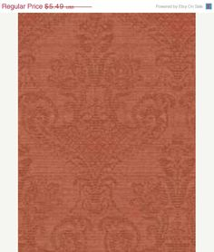 ON SALE Red Jacquard Damask Distressed WALLPAPER, Faux Aged Look - Looks Like Worn Fabric  By The Yard - FN3623 on Etsy, $4.94
