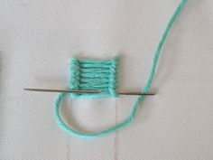 Ladder Stitch is a decorative stitch that you guessed it looks like a ladder! It can be straight or curved and often used for fancy stems. H...