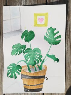 Watercolor monstera. Lucy Paco