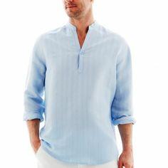 The Havanera Co.® Long-Sleeve Popover Shirt  JCPennys $35.00