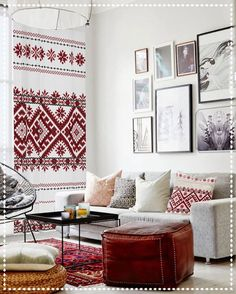Bohemian Interior Decoration Inspiration: Elegant yet Eclectic Living Room Decor My Living Room, Home And Living, Living Room Decor, Living Spaces, Modern Living, Minimalist Living, Living Area, Small Living, Kitchen Living