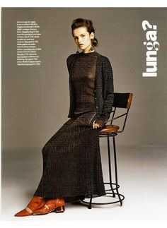 Inside this week's Gioia magazine with our #FW15 lurex wool cardingal!