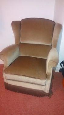 Wundersch ner originaler sessel aus den 60er jahren in for Ohrensessel altrosa