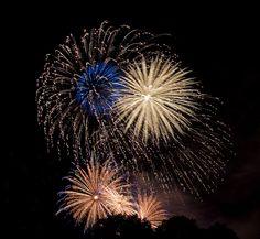 """Sparkle.""  July 4th fireworks over Boston's Esplanade"