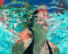 """Emerge; clear waters, 48x60"""", Oil on canvas,  Sold"""