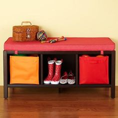 Kids Benches: Kids 3-Cube Espresso Bench from The Land of Nod on Catalog Spree, my personal digital mall.