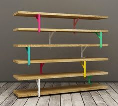 23 of our favorite Ikea Hack projects: #DIY Rainbow Shelving Unit