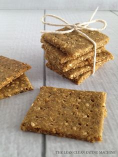 Rosemary Sesame Gluten Free Crackers – The Lean Clean Eating Machine