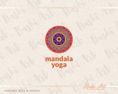 Mandala premade logo for sale on Etsy.