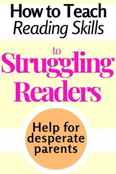 Teacher resources for struggling readers -Help for knowing the right age for reading, methods of teaching reading in primary school, and how to help a child struggling with reading Reading Comprehension Strategies, Reading Fluency, Reading Intervention, Reading Resources, Reading Activities, Teacher Resources, Dyslexia Strategies, Reading Tutoring, English Resources