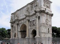 Roman Triumphal Arches - Arch of Constantine (Side)