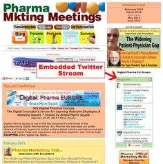 Pharma Marketing Network Advertiser News: Embed Your Conference Twitter Stream in the PMN Calendar Page