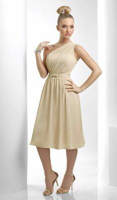 Bari Jay One Shoulder Tea Length Bridesmaid Dress 915  comes in wysteria