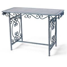 Spanish Gate Iron Scroll Wood & Metal Console or DiningTable