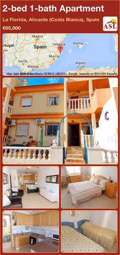 2-bed 1-bath Apartment in La Florida, Alicante (Costa Blanca), Spain ►€65,000 #PropertyForSaleInSpain