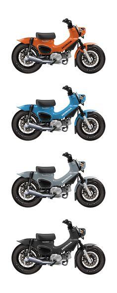 Honda Motorcycles, Vintage Motorcycles, Cars And Motorcycles, Low Carb Fast Food, Café Race, Vespa, Honda Cub, Retro Bike, Mini Bike