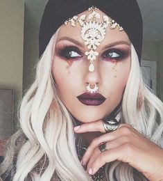 Gold Silver Diamond Gem Jeweled Head piece Bridal Wedding Boho Grecian Goddess Head Piece Glamour Fancy Hair Accessory