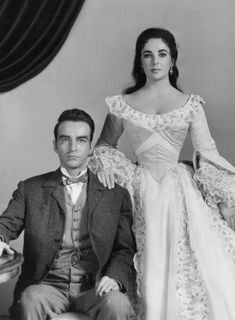 RAINTREE COUNTY (1957) - Montgomery Clift & Elizabeth Taylor - Directed by Edward Dymytrk - MGM - Publicity Still.