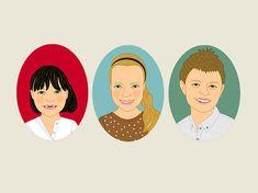 Custom portraits of 3 kids. Children portraits. #art #drawing @EtsyMktgTool http://etsy.me/2y9USDc #personalizedgift #customportrait