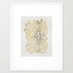 Gold Ivy Framed Art Print