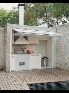 Original cocina en el exterior ...