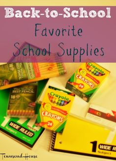 Townsend House: Back-to-School Shopping - Must Have School Supplies for the Elementary Years