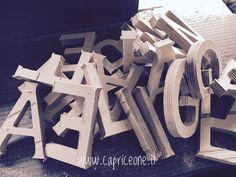 Wooden letters #design