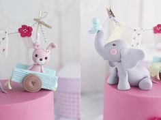 Baby Elephant Cake: Tutorial how to make a fondant elephant - Megasilvita