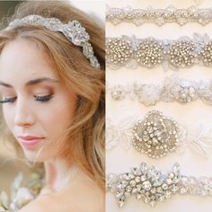 All our bridal headbands are designed with gorgeous rhinestone jewels to add that perfect finishing touch to your wedding hair. See more here: http://www.cloenoeldesigns.com