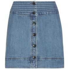 Vanessa Bruno Athé Denim Skirt (900 BRL) ❤ liked on Polyvore featuring skirts, blue, blue skirt, blue denim skirt, vanessa bruno athé and denim skirt