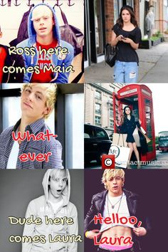 Raura is OTP!! *Squee* Oh and that telephone booth should be blue... ;)