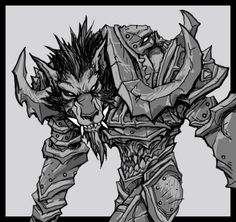 #warcraft #worgen #deathknight