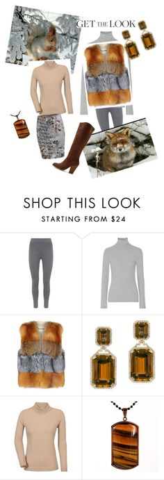 """""""Squirrel winter styling"""" by kkornak on Polyvore featuring Mint Velvet, James Perse, MICHAEL Michael Kors, Goshwara, West Coast Jewelry and WithChic"""