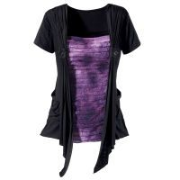 Rippled Purple and Black Top Pyramid Collection $59.95