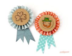 St. Patty's Day is almost here! Surprise your little guests with these precious #DIY badges from @Michelle McInerney! /ES