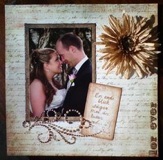 Our wedding, scrapbooking layout LO, handgjortavsara.se